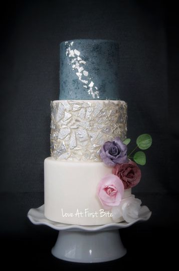 Isomalt and silver leaf
