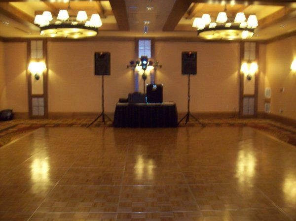 DJ equipment set up