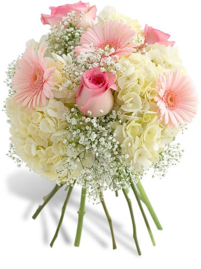 dainty pink and white bouquet miami gardens flower