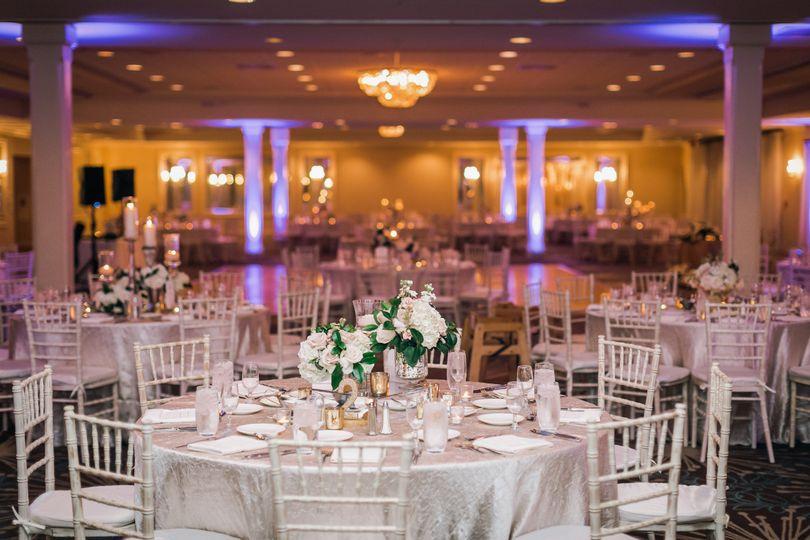 White reception design