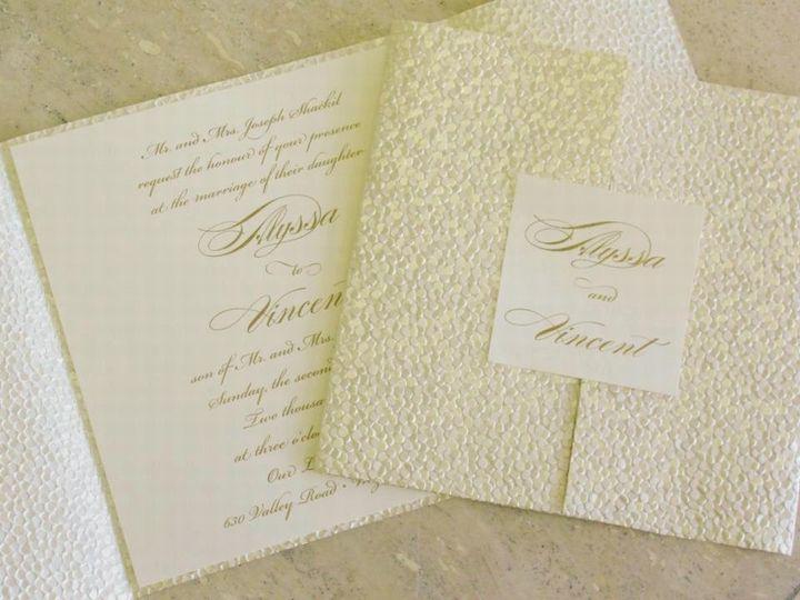 Textured invite