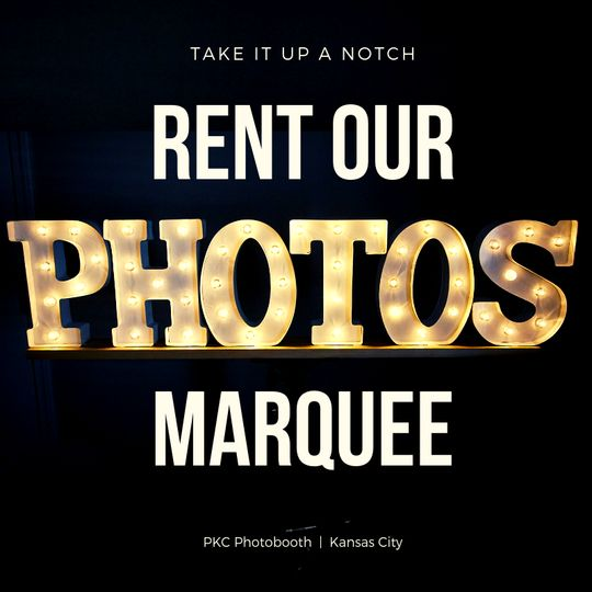 PKC rent our PHOTOS marquee