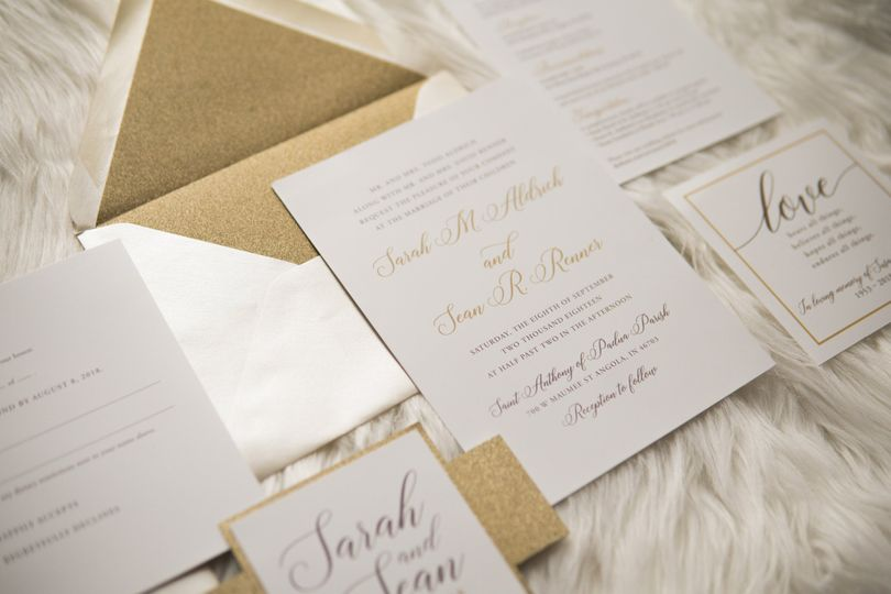 Neutral & Sparkle Invitations