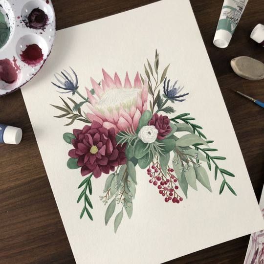 Custom Bouquet Painting