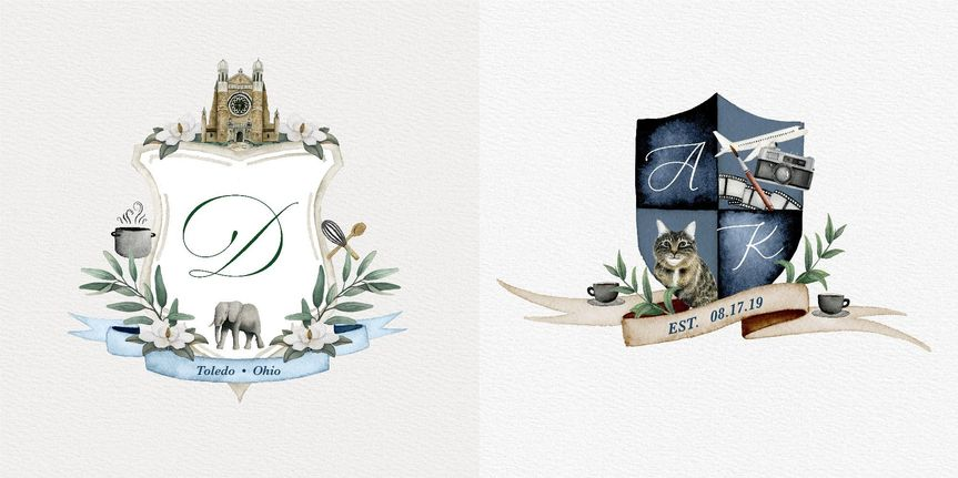 Custom Wedding Crests