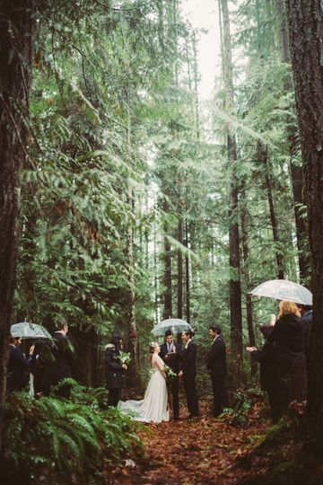 Dark Forrest intimate wedding