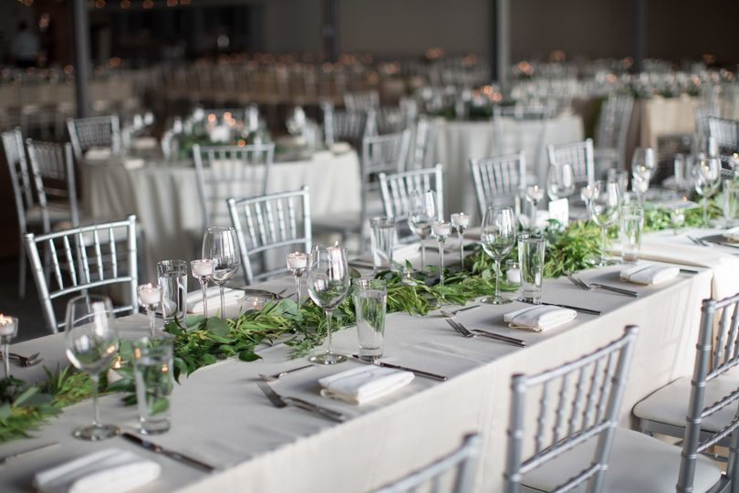 Classic reception at SKY Armory, tablescape by SKY's in-house designer, photo: Megan Dailor...