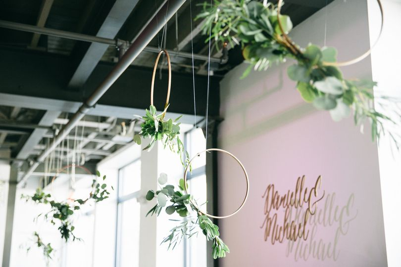 Hanging treatments by SKY Armory's in-house designer, photo: Janelle Rodriguez Photography