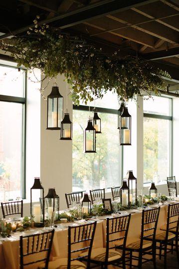 Rustic wedding at SKY Armory, decor by SKY Armory's in-house designer, photo: Mikaela Hamilton