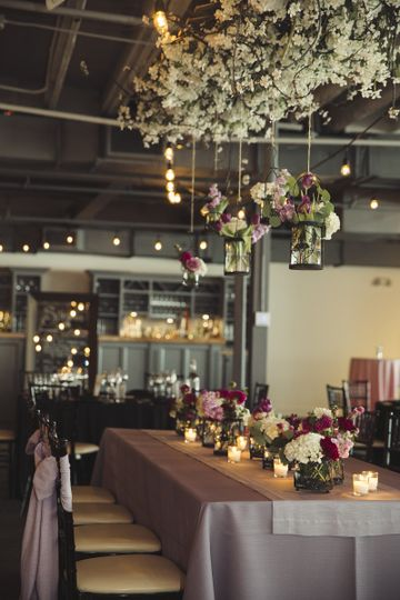 Romantic decor by SKY Armory's in-house designer, photo: Amelia Beamish Photography
