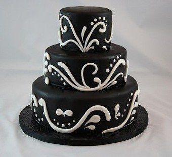 Tmx 1336587985384 ElegantBlackWhiteScroll Nesconset wedding cake