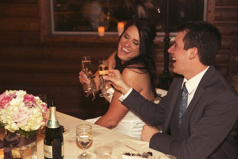 Couple making a toast