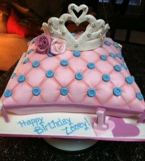 A Princess pillow shaped cake.