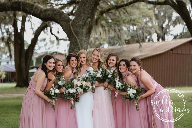 Fresh looking bride and friends
