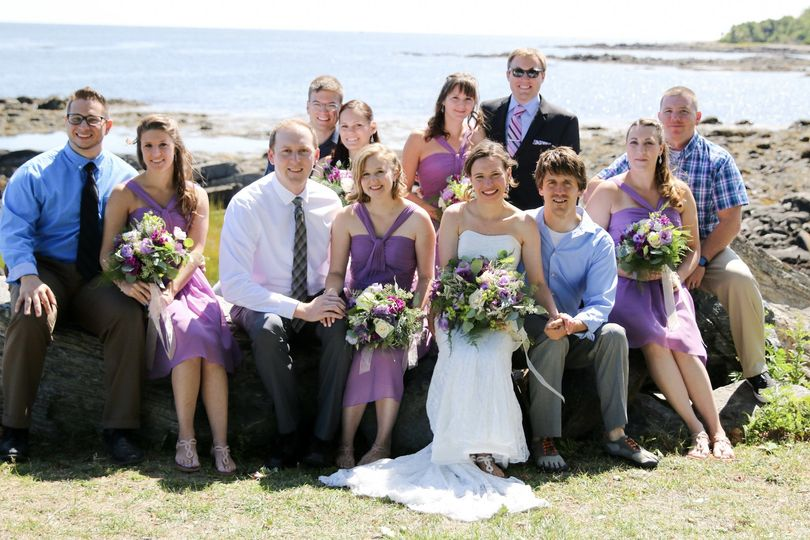 Great Island Common New Hampshire Bridal party