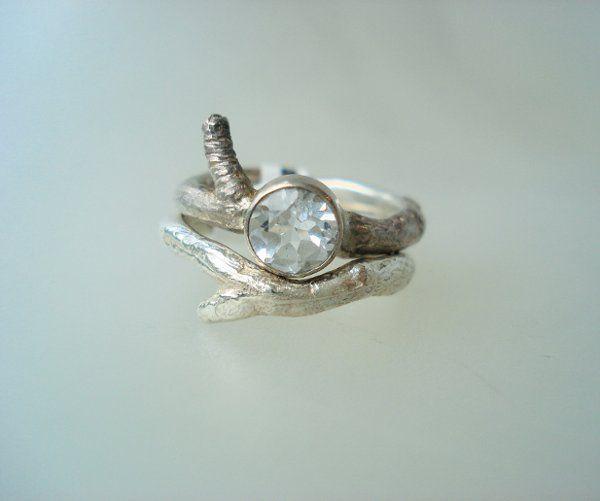 Twig & Stone Ring Set