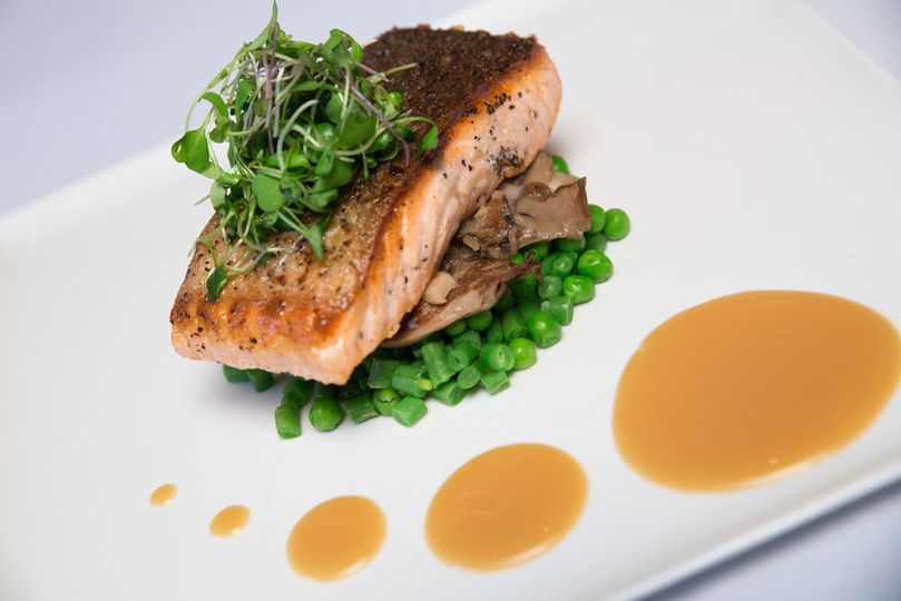 Plated Entree Salmon