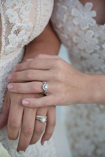 Two brides wedding rings
