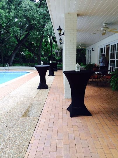 Spandex Cocktail Tablecloths add an elegant touch to any event