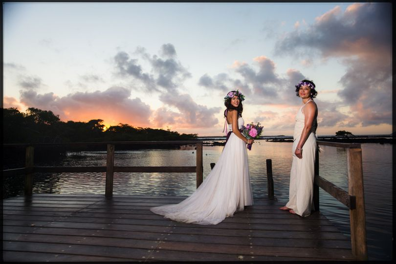 After ceremony photo session  #real wedding #gaywedding #beautiful #galapagosislands #ecuador...