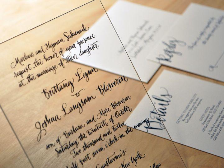Tmx 1392736327385 Acryliccalligraphy Minneapolis wedding invitation