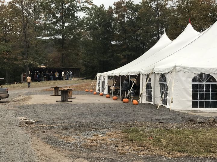 Front tent reception area