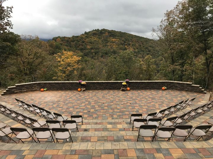 Chairs in amphitheater