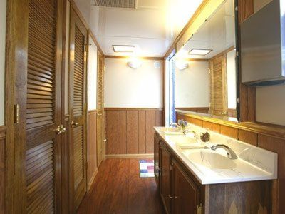 Your guests will love using our luxury restroom trailers at your wedding.