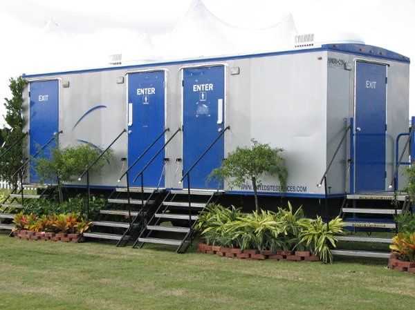 This represents a small sample of all the restroom trailers we have to offer. We have restroom...