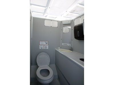 The VIP restrooms on trailers offer a clean look with an impacting presence.