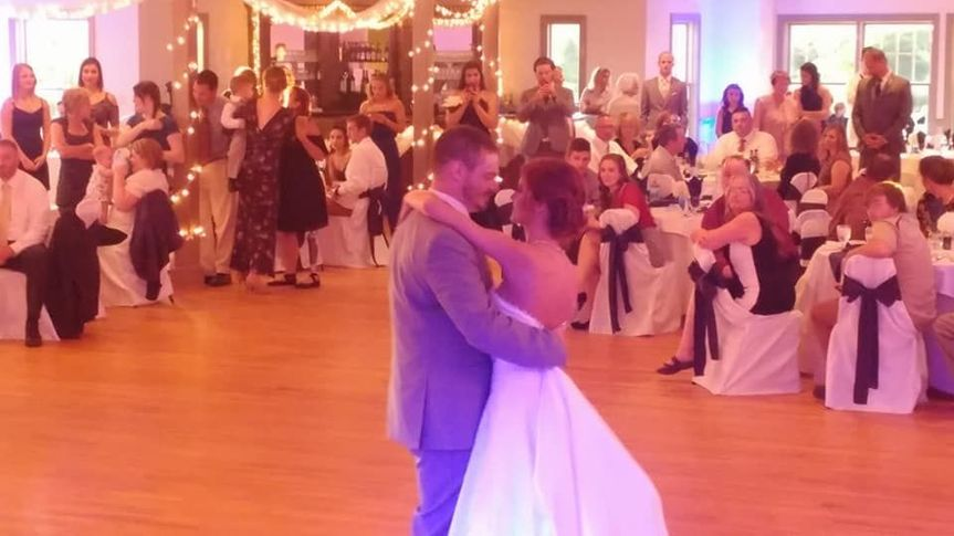 Couple dancing to their song