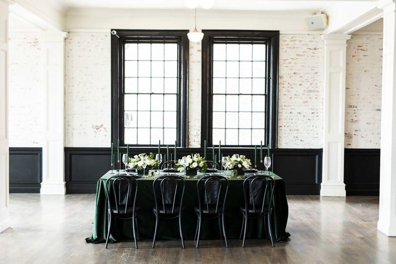 Hunter green velvet wedding
