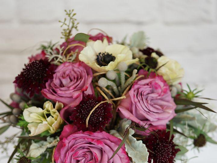 Tmx 1473085908548 Pinkandburgundybridalbouquetportraitbrick Raleigh, NC wedding florist