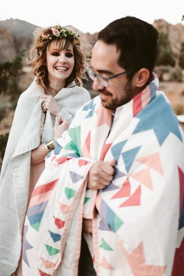 Marisa & Andrew with blanket