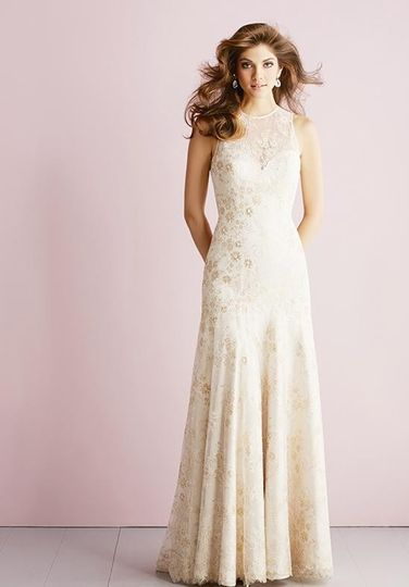 Off white wedding dress