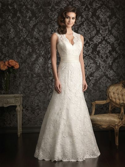 Timeless full lace wedding dress