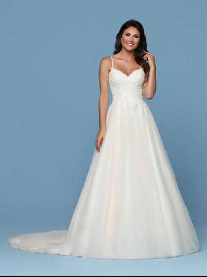 Beaded lace, A-line/ballgown