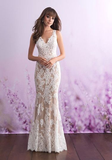 Sheer lace over layer