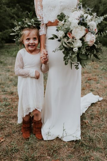 The bride and a little girl