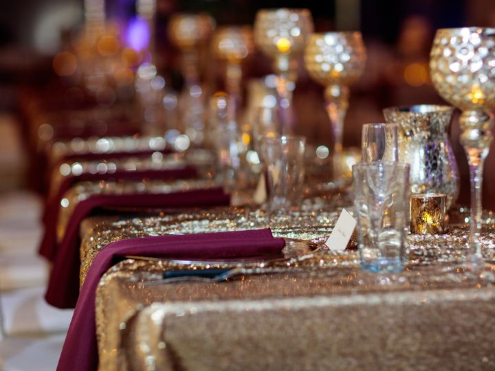Tmx 1514915096817 Gold Sequin Table Linen 2 Wichita, KS wedding rental