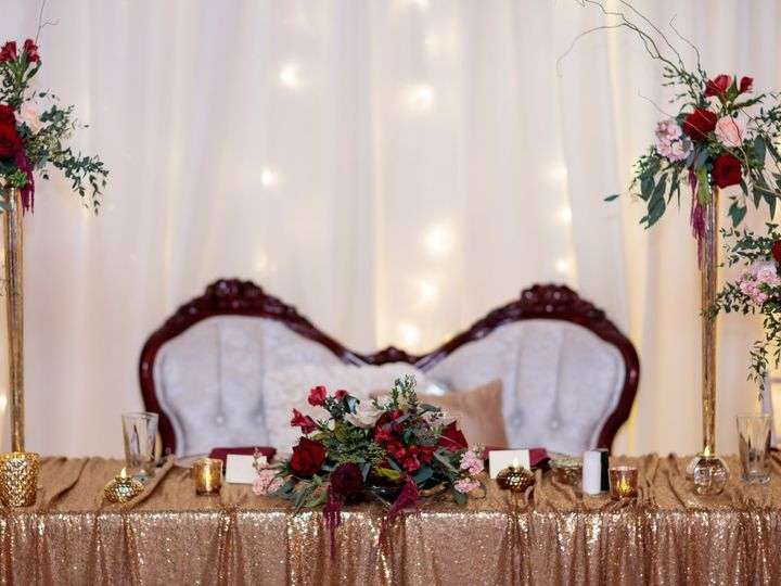 Tmx 1514915097059 Gold Sequin Table Linen 3 Wichita, KS wedding rental