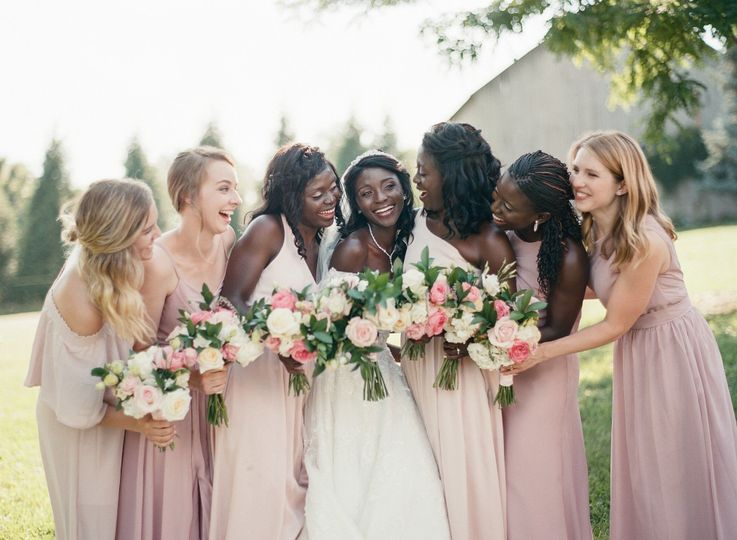 Bride and bridesmaids Photo by ElisaBricker Photography