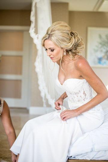 Bride in the suite