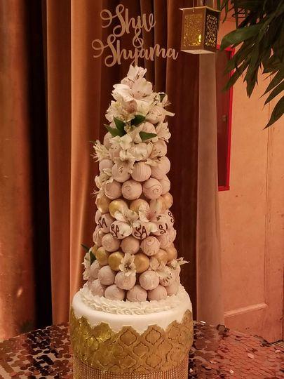 Cake Ball Tower
