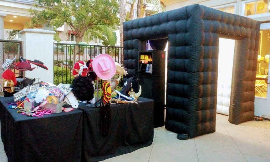 Inflatable photo booth setup