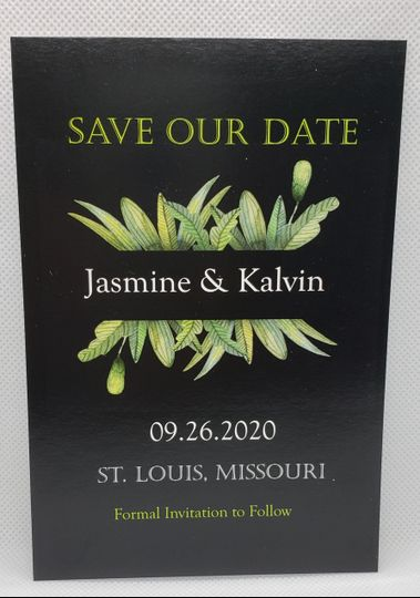 Green & Black Save the Date