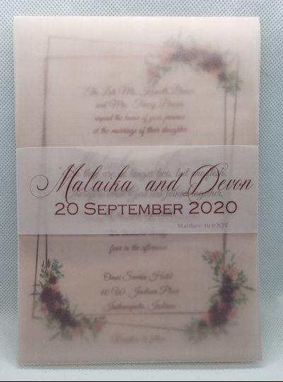 Blush Wedding Invitation Suite
