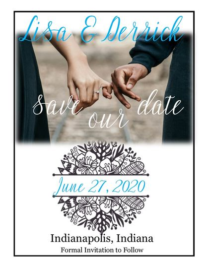 Floral Medallion Save the Date