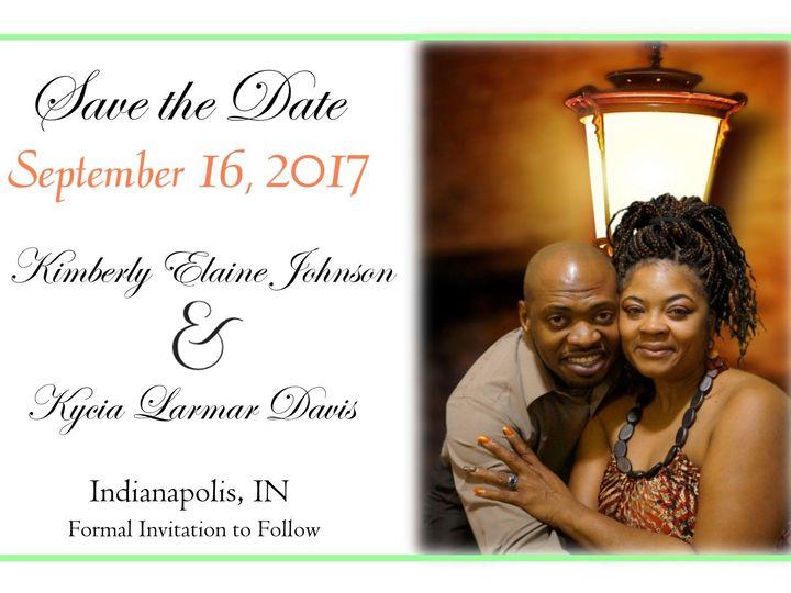 Tmx 1527999037 47be878bbcc28e1c 1527999036 5a0697ebca5f6950 1527999028262 3 Kycia And Kim   1  Indianapolis, IN wedding invitation