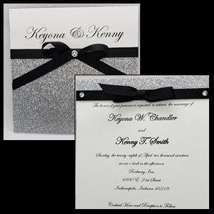 Tmx Black White And Glittery Silver 51 1008022 1557956564 Indianapolis, IN wedding invitation